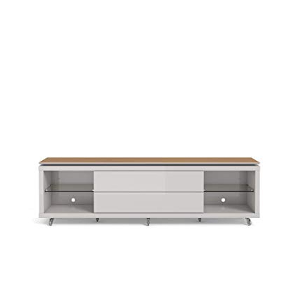 Maple Wood Tv Stands With Regard To Most Up To Date Amazon: Manhattan Comfort Lincoln (View 16 of 20)