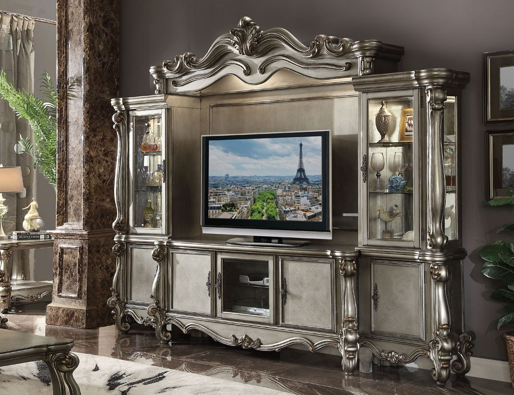 Marlyn Platinum Finish Classic Tv Stand With Most Recent Classic Tv Stands (View 13 of 20)