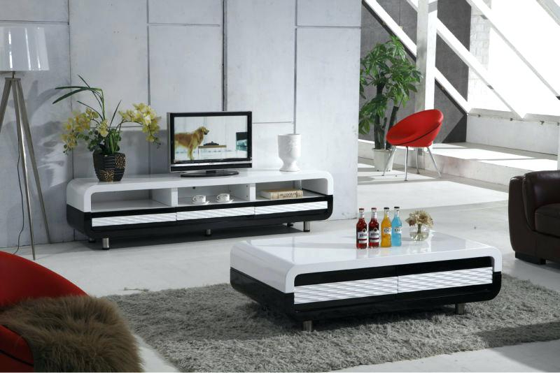 Matching Tv Stand And Coffee Table White Marble Furniture Set For With Preferred Matching Tv Unit And Coffee Tables (View 9 of 20)
