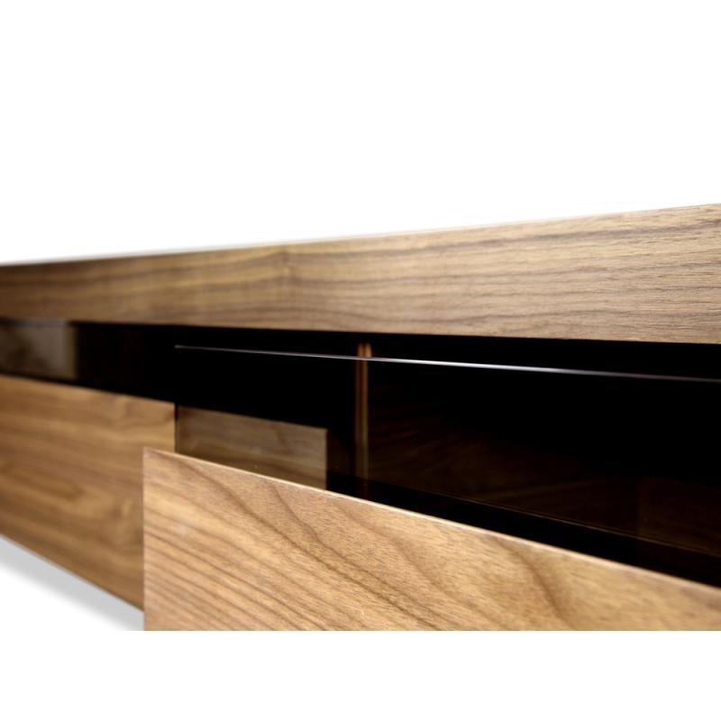 Maze Lowline Tv Unit – Walnut – Replica Furniturecalibre Furniture Pertaining To Most Up To Date Cheap Lowline Tv Units (View 8 of 20)