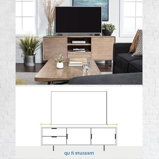 Melrose Titanium 65 Inch Lowboy Tv Stands Regarding Latest Tv Stand Size Guide: Read This Before Buying (View 9 of 20)