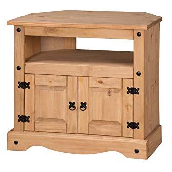 Mercers Furniture Corona Corner Tv Unit – Brown: Amazon.co.uk Regarding Widely Used Corona Tv Corner Unit (Gallery 1 of 20)