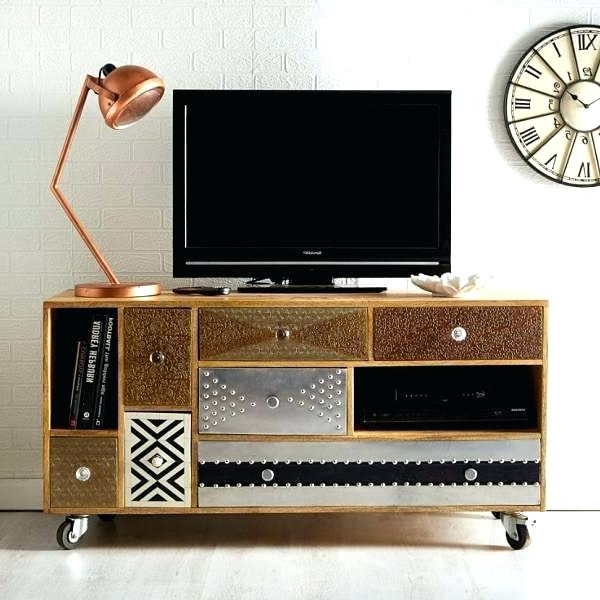 Metal Wood Tv Stand Metal And Wood Stand St Metal Wood Stand Within Most Popular Wooden Tv Stand With Wheels (Gallery 2 of 20)
