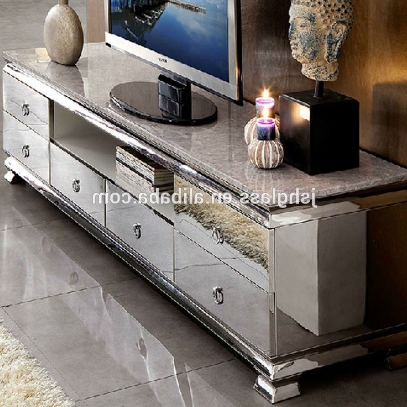 Mirrored Tv Console Mirrored Tv Cabinet Living Room Furniture Within Well Known Mirror Tv Cabinets (View 16 of 20)