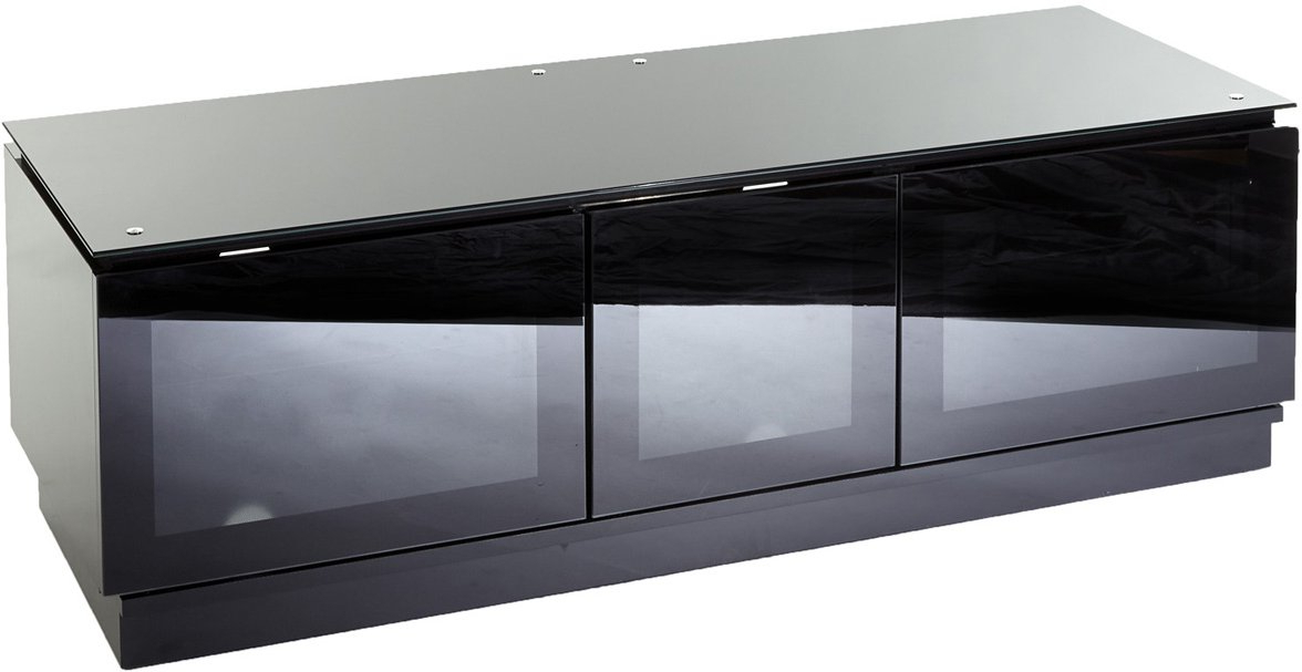 Mmt D1350 Black Tv Stands Intended For Popular Black Tv Stand With Glass Doors (View 2 of 20)