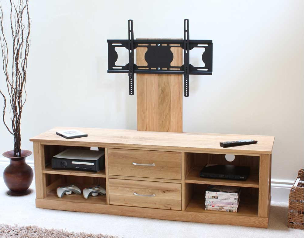 Mobel Oak Widescreen Tv Cabinet In Widely Used Wide Screen Tv Stands (View 5 of 20)