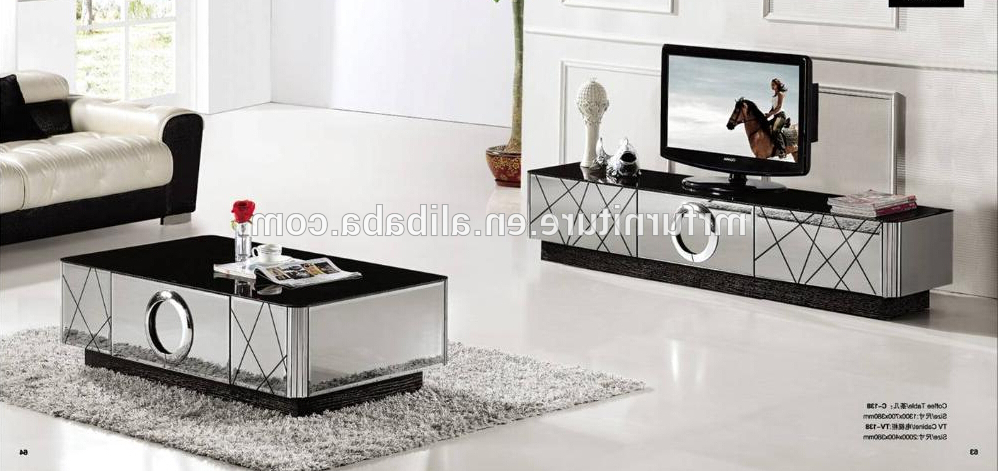 Modern Black And Silver Mirrored Tv Stand – Buy Unique Mirrored Tv Pertaining To Current Mirrored Tv Stands (View 9 of 20)
