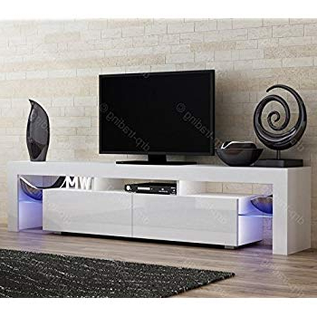 Modern High Gloss Evora White Tv Stand Display Cabinet Wall With Preferred Gloss Tv Stands (View 16 of 20)