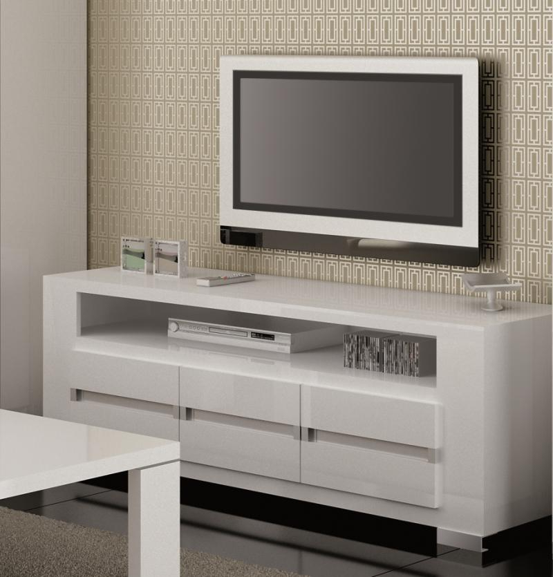 Modern High Gloss In Modern White Gloss Tv Stands (View 7 of 20)