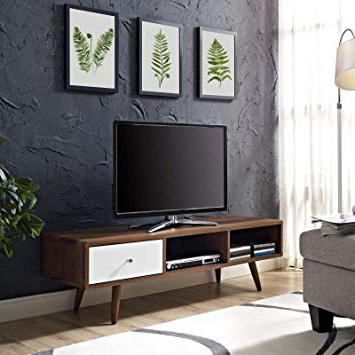 Modern Low Profile Tv Stands With Regard To Preferred Amazon: Modway Transmit Mid Century Modern Low Profile 55 Inch (View 14 of 20)