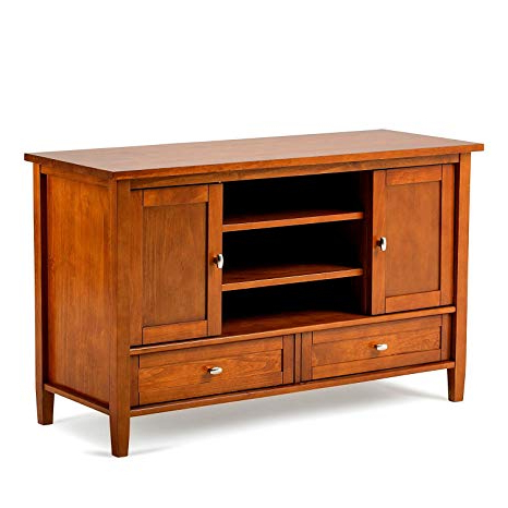 "Modern Low Tv Stands Within Well Known Amazon: Large Wooden Tv Stand Corner 52"" Low Wood Shelves Modern (Gallery 8 of 20)"