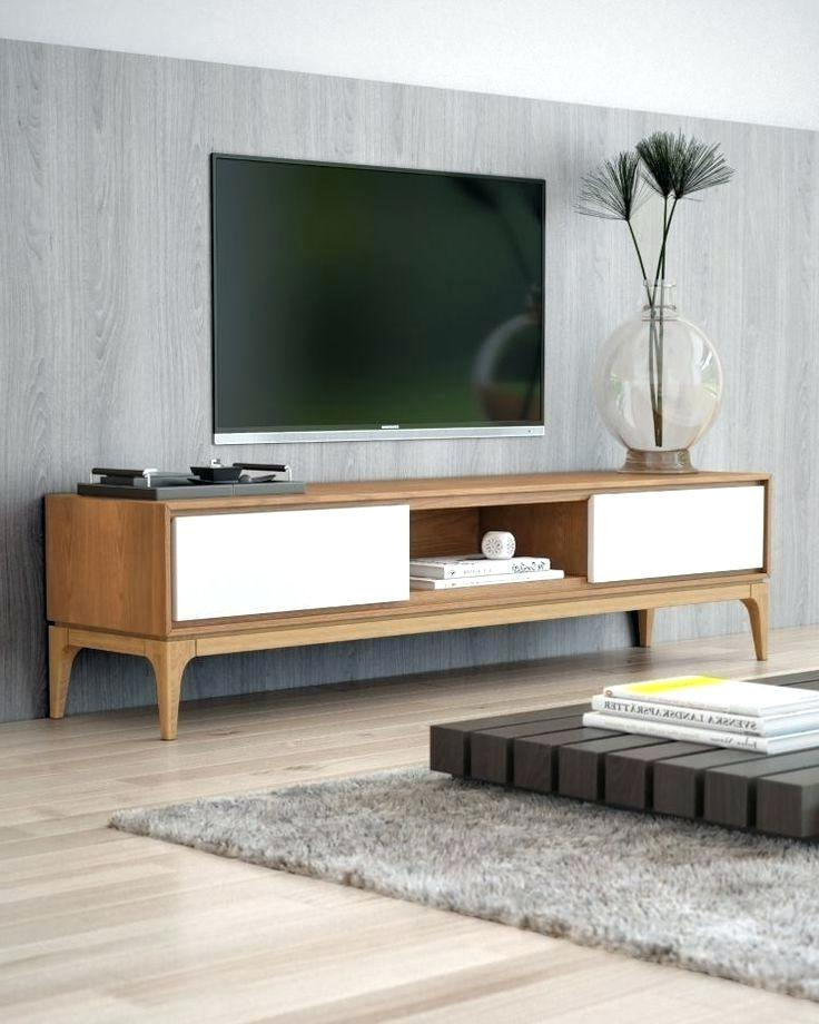 Modern Style Tv Stands Curvy Wood And Tempered Glass Modern Stands Throughout Most Recent Hokku Tv Stands (View 13 of 20)