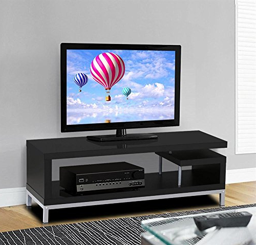 Modern Tv Cabinets For Flat Screens With Most Up To Date Amazon: Topeakmart Modern Tv Stand Console Table Home (View 5 of 20)