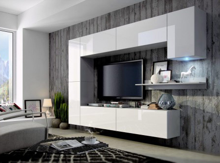 Modern Tv Cabinets Regarding Well Known Top 40 Modern Tv Cabinets Designs – Living Room Tv Wall Units (View 17 of 20)