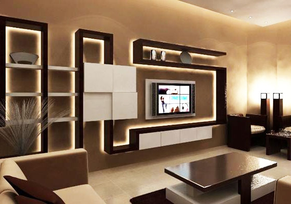 Modern Tv Cabinets Regarding Widely Used Top 40 Modern Tv Cabinets Designs Living Room Tv Wall Units 2019 New (View 11 of 20)
