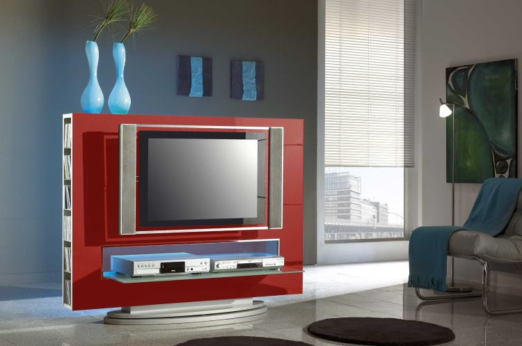 Modern Tv Entertainment Center Media 85 Red With Preferred Modern Tv Entertainment Centers (View 3 of 20)