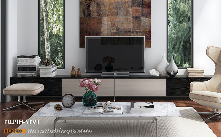 Modern Tv Stand, Long Tv Stand Design – Oppeinhome Throughout Widely Used Long Tv Stands (Gallery 17 of 20)