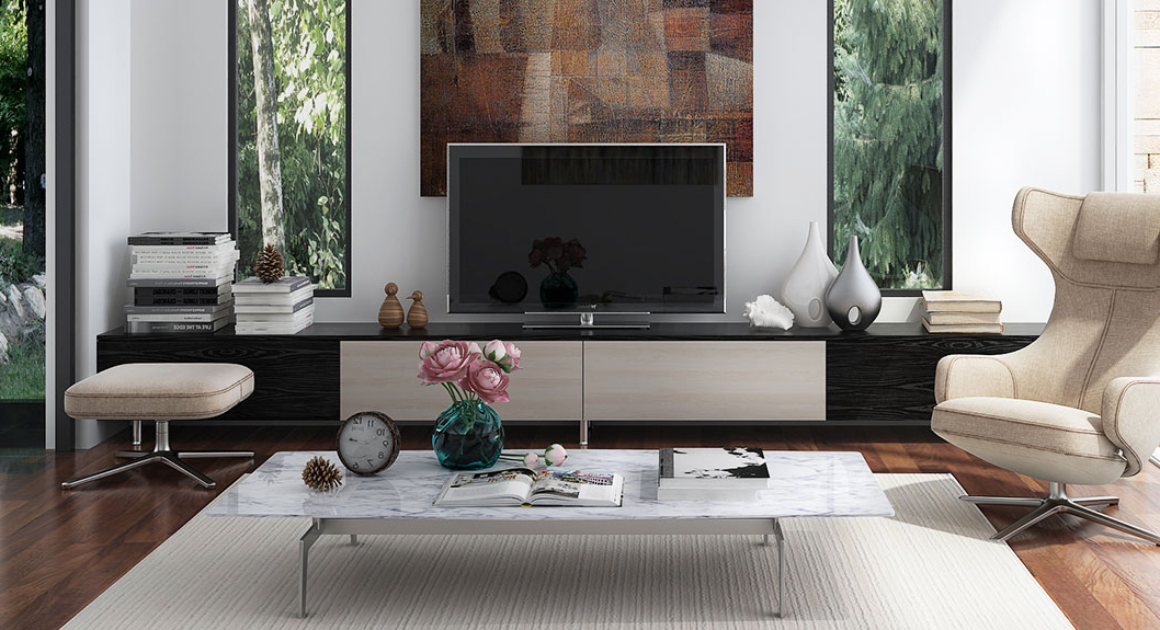 Modern Tv Stand, Long Tv Stand Design – Oppeinhome With Regard To Popular Long Tv Cabinets Furniture (View 15 of 20)