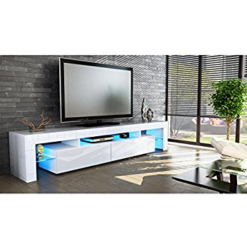 Modern Tv Stands Cheap Intended For Well Known White Contemporary Tv Stands (View 12 of 20)