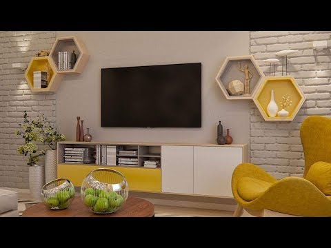 Modern Tv Stands With Mount With Recent Modern Tv Wall Mount Stand Decoration Ideas / Modern Tv Stand 2019 (Gallery 10 of 20)