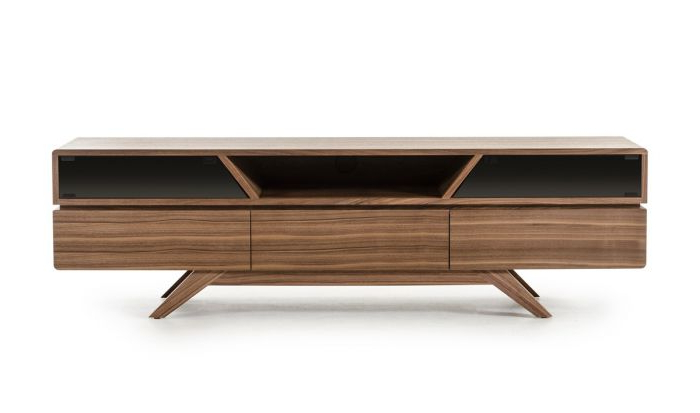 Modern Walnut Tv Stands With Regard To Preferred Vig Furniture Vgbbvig141101F Modrest Soria Modern Walnut Tv Stand (View 9 of 20)