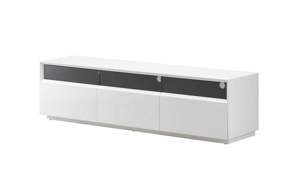 Modern White Gloss Tv Stands Inside Well Known J&m Furniture (View 11 of 20)
