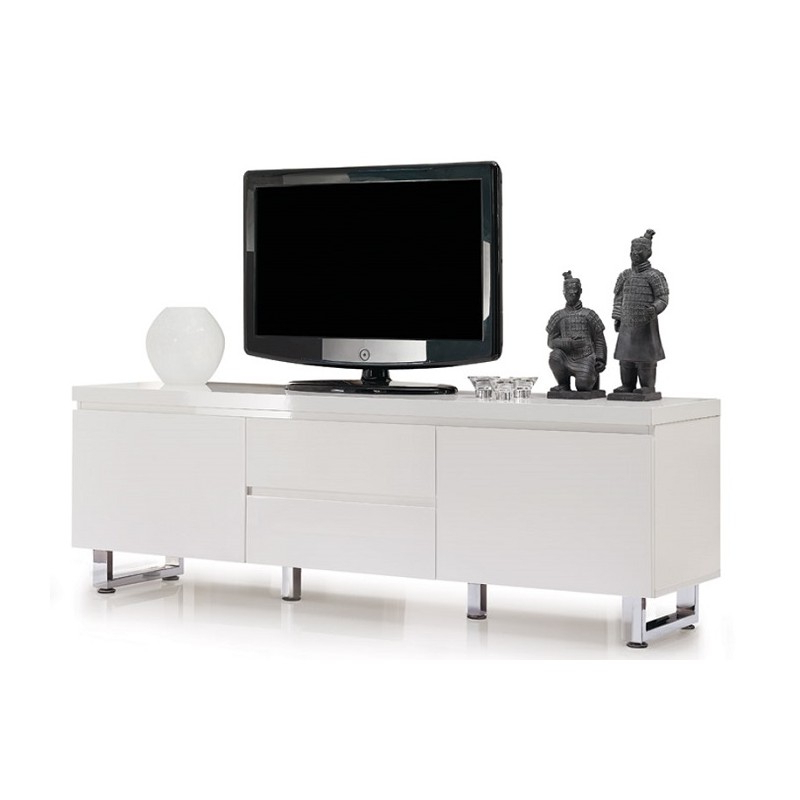 Modern White Gloss Tv Stands With 2018 Sydney Iii – High Gloss Tv Unit – Tv Stands (372) – Sena Home Furniture (Gallery 17 of 20)