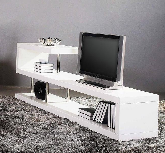 Modern White Tv Stands Pertaining To Trendy White Tv Stands For Modern Homes – Hometone – Home Automation And (View 10 of 20)