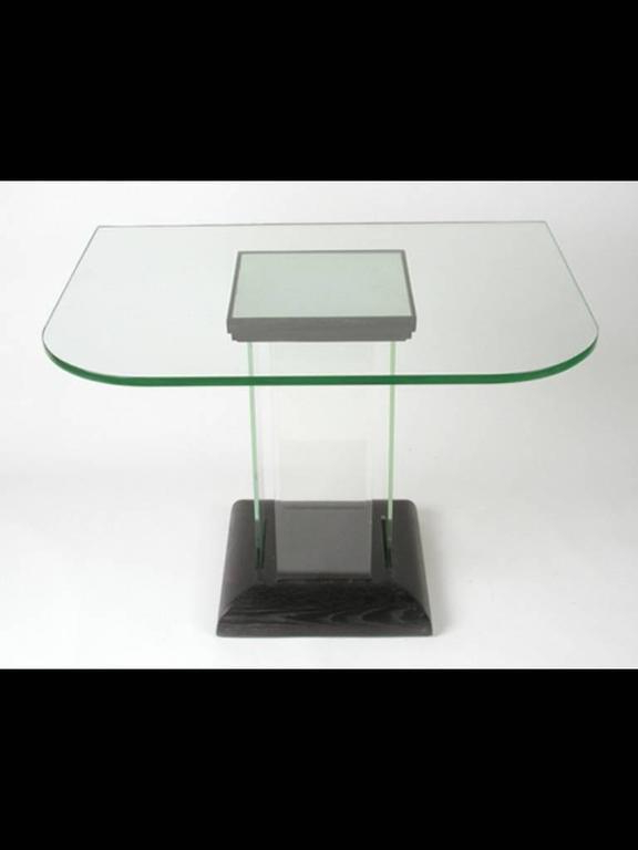Modernage Glass Console, Dinette Table For Sale At 1Stdibs Throughout Fashionable Era Glass Console Tables (View 13 of 20)