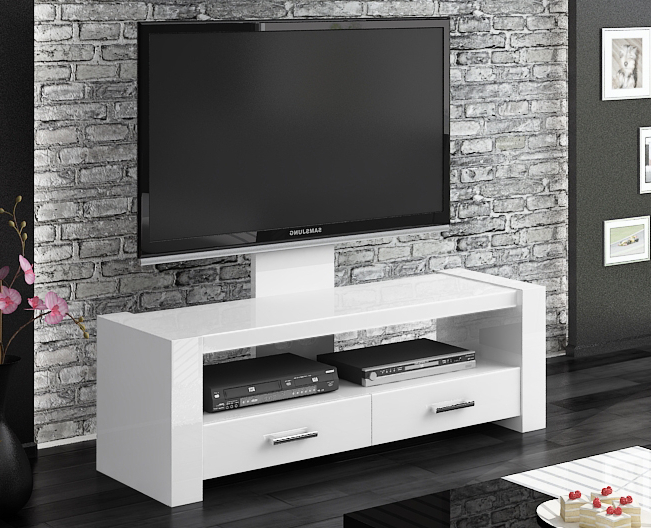 Monaco White Gloss Tv Stands (Gallery 4 of 20)