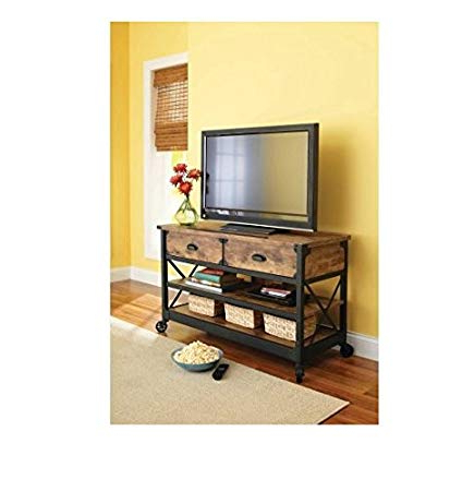 Most Current Amazon: Rustic Country Antiqued Black/pine Panel Tv Stand For Inside Pine Tv Stands (View 7 of 20)