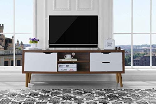 Most Current Amazon: Sofamania Mid Century Style Tv Stand, Living Room In Rowan 45 Inch Tv Stands (View 9 of 20)