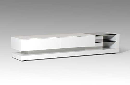Most Current Amazon: Vig Furniture Modrest Mali Modern White Tv Stand Inside Modern White Tv Stands (View 13 of 20)