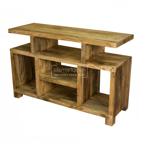 Most Current Ambala Cube Light Mango Wood Tv & Dvd Unit / Entertainment Unit Within Mango Wood Tv Stands (View 12 of 20)