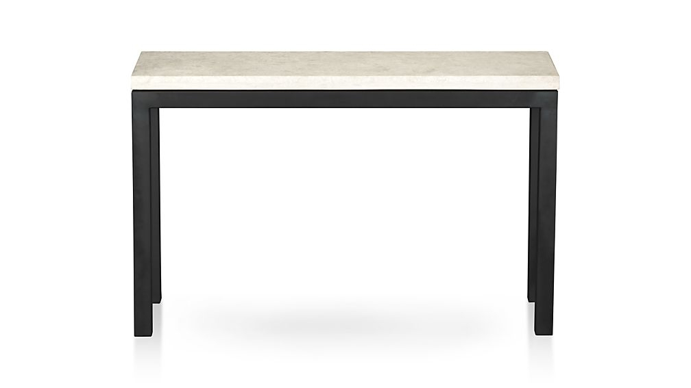 Most Current Concrete Top Console Table Incredible Parsons Dark Steel Base 48x16 In Parsons Travertine Top & Brass Base 48x16 Console Tables (View 14 of 20)