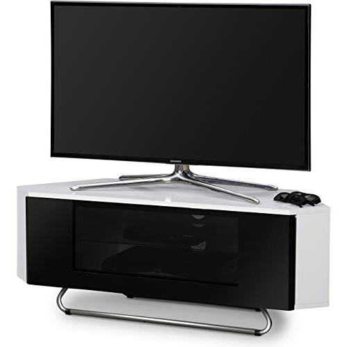 Most Current Corner Tv Unit White Gloss In White Gloss Corner Tv Units: Amazon.co (View 15 of 20)