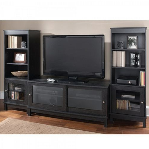 Most Current Entertainment Center Tv Stands In Home Entertainment Center Tv Stand Shelves Wood Media Console 2 Side (View 19 of 20)
