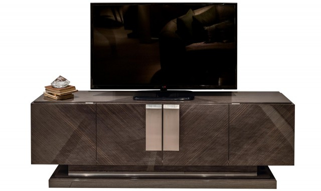 Most Current High Gloss Tv Cabinets Pertaining To Marbella – Oak Tv Stand Fishpools (View 13 of 20)