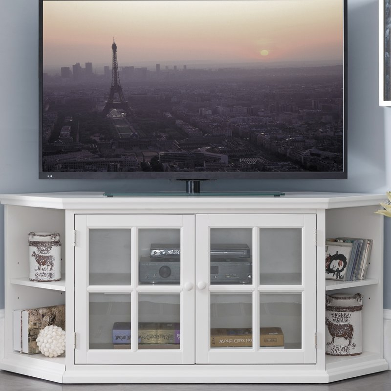 "Most Current Highland Dunes Galles Corner Tv Stand For Tvs Up To 65"" & Reviews Inside Caden 63 Inch Tv Stands (Gallery 14 of 20)"