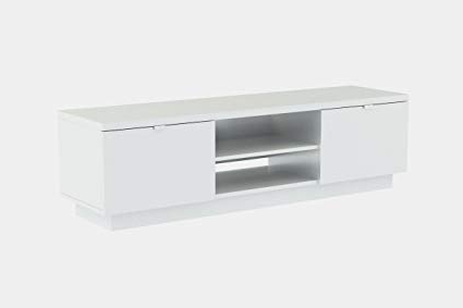 Most Current Ikea White Gloss Tv Units Inside Amazon: Ikea Byas Tv Unit High Gloss White Modern: Home Audio (View 17 of 20)