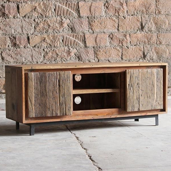 Most Current Image Result For Cast Iron Reclaimed Wood Tv Stands (View 10 of 20)