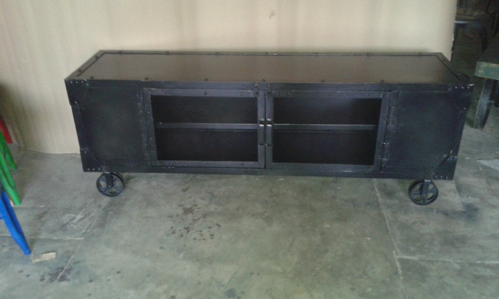 Most Current Industrial Metal Tv Stands In Industrial Style Furniture Black Metal Tv Stand,recycle Black Metal (View 2 of 20)