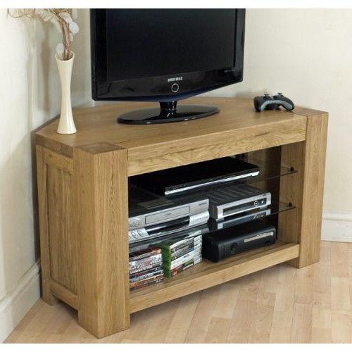 Most Current Kuba Solid Oak Corner Tv Cabinet (View 7 of 20)