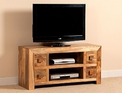 Most Current Mango Wood Tv Stands With Regard To Large Solid Wood Tv Unit (View 10 of 20)