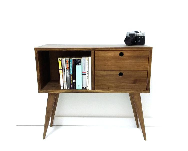 Most Current Oak & Brass Stacking Media Console Tables Regarding Mid Century Tv Console Oak Brass Stacking Media Console Mid Century (View 9 of 20)