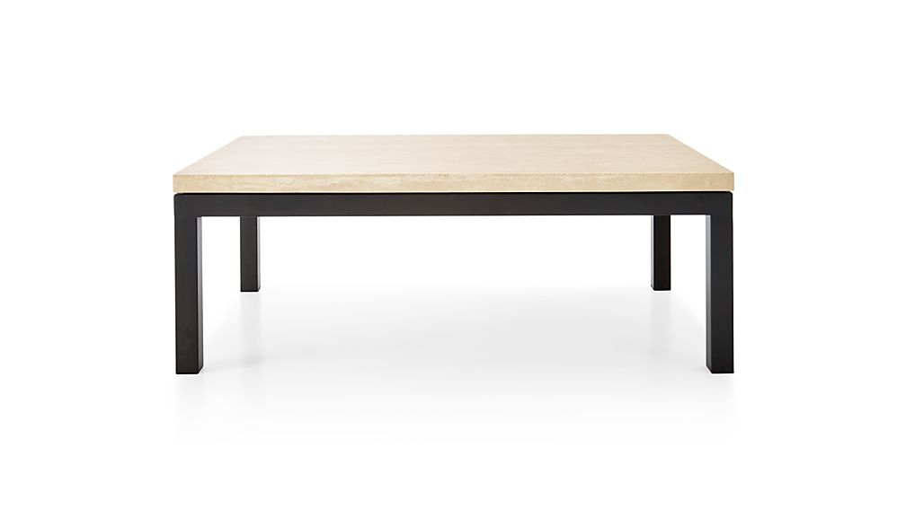 Most Current Parsons Travertine Top & Stainless Steel Base 48X16 Console Tables With Parsons Travertine Top/ Dark Steel Base 48X28 Small Rectangular (Gallery 6 of 20)