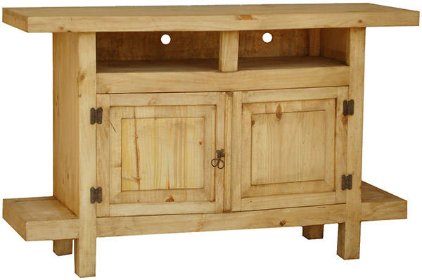 Most Current Rustic Media Console & Stands And Mexican Media Console & Stands Pertaining To Pine Tv Stands (View 8 of 20)