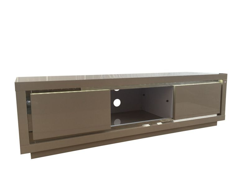 Most Current Sardinia Cream High Gloss Tv Unit With Led Light – Modish Furnishing Within Cream High Gloss Tv Cabinets (View 12 of 20)