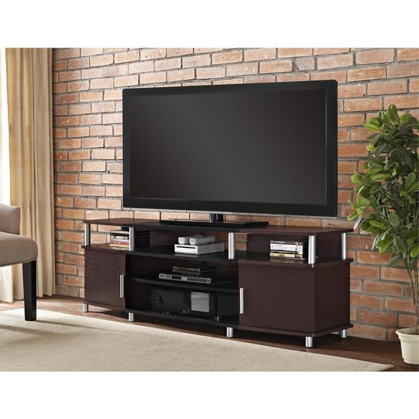 Most Current Shop Avenue Greene Ford Cherry Tv Stand For Tvs Up To 70 Inches Intended For Tv Stands For 70 Inch Tvs (View 10 of 20)