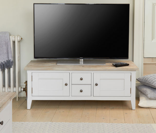 Most Current Signature Grey Painted Furniture Widescreen Television Tv Stand With Wide Screen Tv Stands (View 19 of 20)